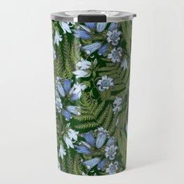 Bluebell flowers and fern leaves Travel Mug