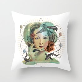 Ms Magritte's Brain Throw Pillow