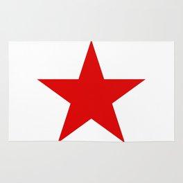 Red Star Art Print Rug