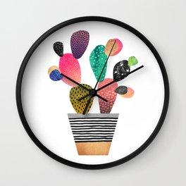 Happy Cactus Wall Clock
