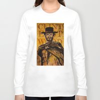clint eastwood Long Sleeve T-shirts featuring Clint Eastwood by Olga Ko