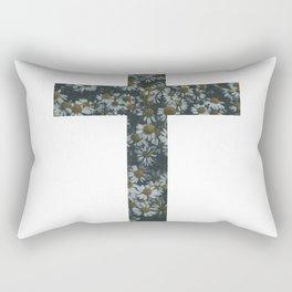 Flower Cross Rectangular Pillow