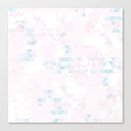 Triangle pastel Canvas Print