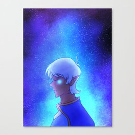 Altean Lance w/ a background galaxy Canvas Print