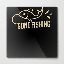 Angler Fish Fishing Metal Print
