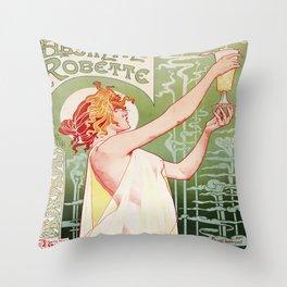 Art Nouveau Absinthe Robette Ad Throw Pillow