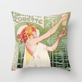 Art Nouveau Absinthe Robette Ad Throw Pillow