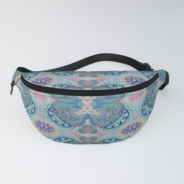 Vintage Intricate Woven Psychedelic Floral Fanny Pack