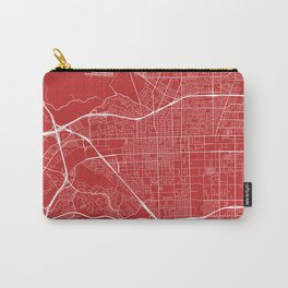 Pomona Map, USA - Red Carry-All Pouch