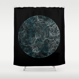 Lines of the Tide Shower Curtain
