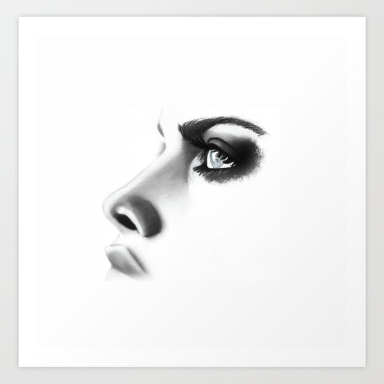 Fashion Illustration - Close Up Art Print