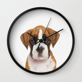 German Boxer Puppy Wall Clock