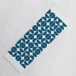 Mid Century Modern Geometric 04 Blue Yoga Mat