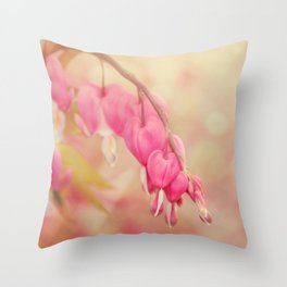 Bleeding Heart Morning Throw Pillow