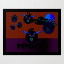"""Angry Penguins"" Art Print"