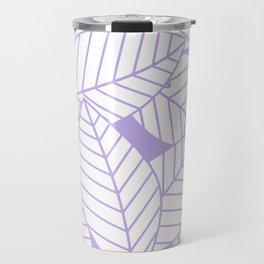 Leaves in Lavender Travel Mug