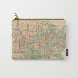 Vintage Map of The United States (1864) Carry-All Pouch