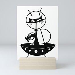 Spaceship Cat Mini Art Print