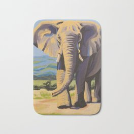 Bull Elephant Bath Mat
