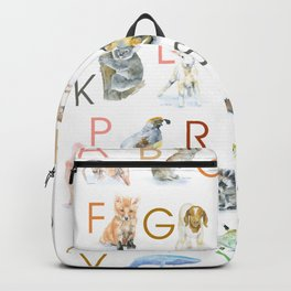 Animal Alphabet ABCs Backpack