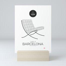 Mies' Barcelona chair (minimalistic version) Mini Art Print
