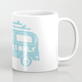 Good Vibes Only retro surfing Camper Van Coffee Mug