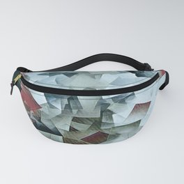Geometric Stacks Turquois Cranberry Fanny Pack