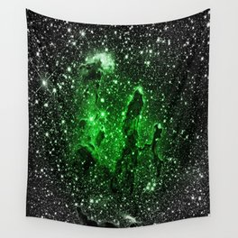 gaLaxy : Green Pillars of Creation Wall Tapestry