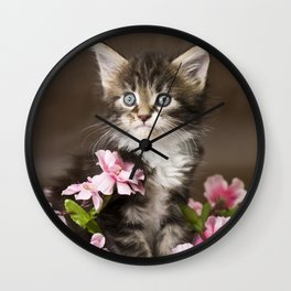 Flower Pot Wall Clock