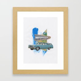 without people Framed Art Print