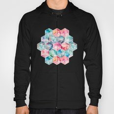 Translucent Watercolor Hexagon Cubes Hoody