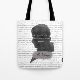 Mr. Darcy - Quote about Elizabeth Bennet Tote Bag