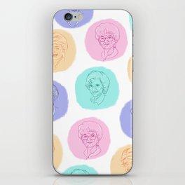 golden girls best friends pastel pattern iPhone Skin