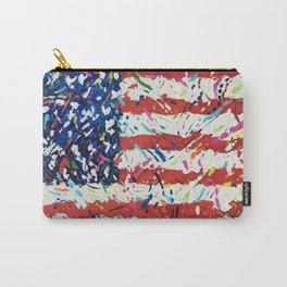 Born on the 4th of July, US Confetti Flag Carry-All Pouch