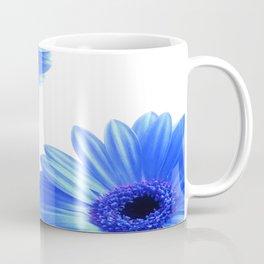 Blue Gerbera Flowers Coffee Mug