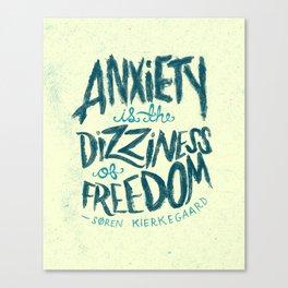 Kierkegaard on Anxiety Canvas Print