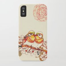 Lovebirds iPhone X Slim Case