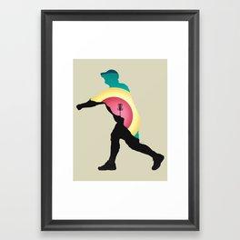 Disc Golf Driver Framed Art Print