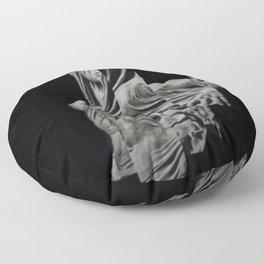 'Veiled Modesty' Contemporary Portrait by Jeanpaul Ferro Floor Pillow