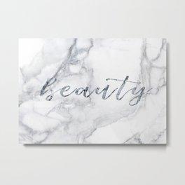 Beautiful white marble Metal Print