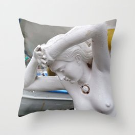 Lady of the Island Throw Pillow