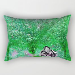 ZEBRA LOST AMONG THE TREES Rectangular Pillow