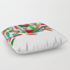 colored leaves Floor Pillow