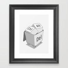 keyboard Framed Art Print