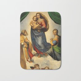Sistine Madonna with Child and Angels Virgin Mary Religion Catholic Gift Bath Mat