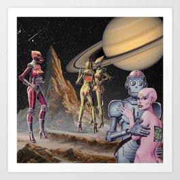 Robot Planet Art Print