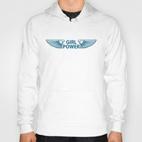 girl power Hoodies featuring GIRL POWER by FabLife