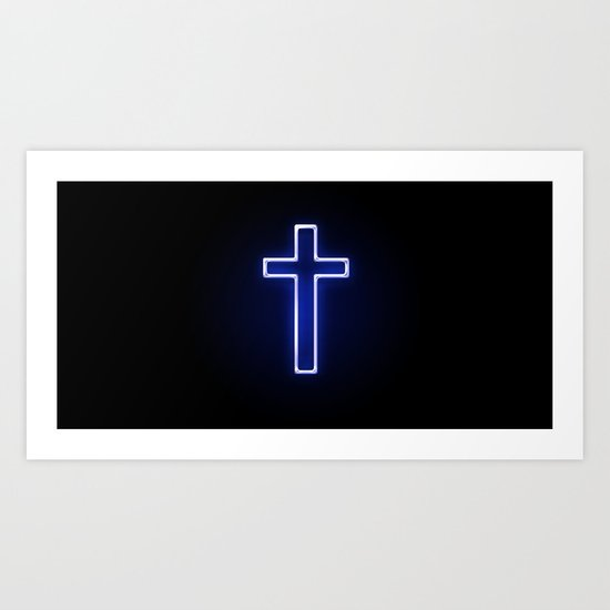 Metallic Cross Art Print