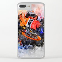 Casey Stoner Clear iPhone Case