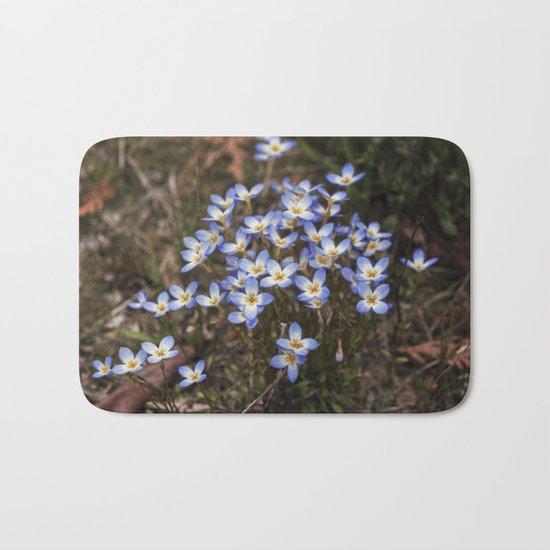Wild Flowers Bluets Bath Mat